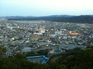 日の峰山より 小松島市内