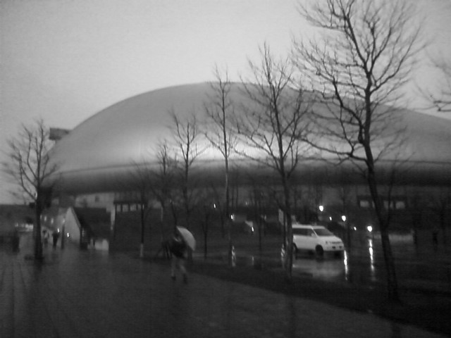 雨の札幌ドーム
