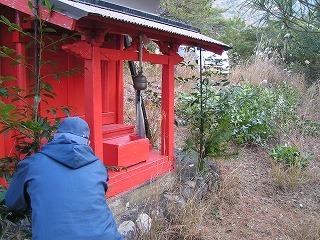 門松の設置@金毘羅山