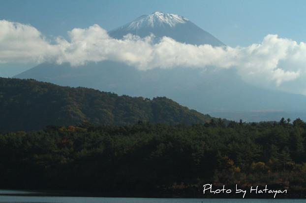 西湖畔の富士山1a
