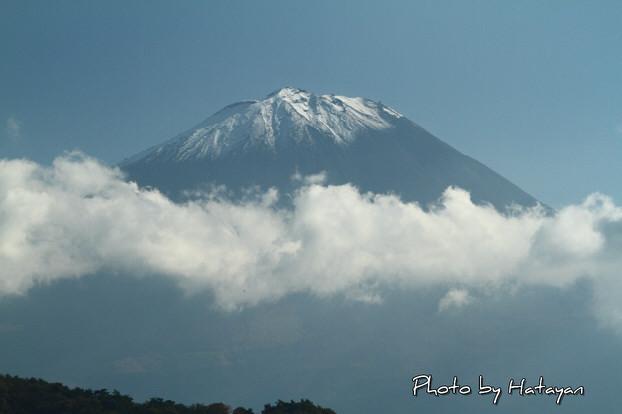 西湖畔の富士山3a