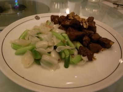 牛肉と百合根炒め