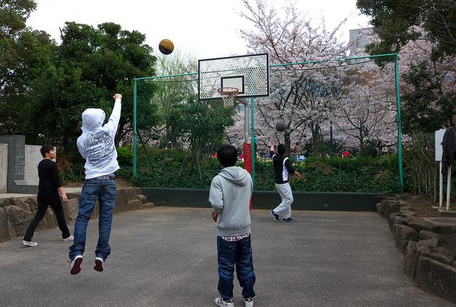 ⑬浜町公園バスケット