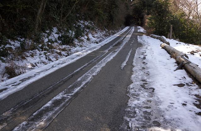⑨峯山林道凍結