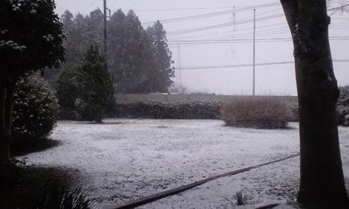 御殿場は雪