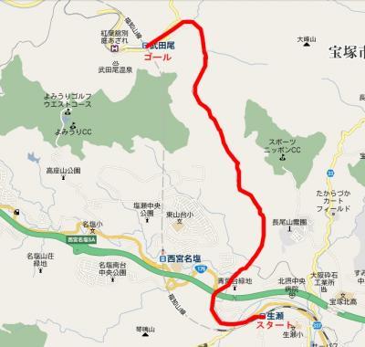 武庫川渓谷・旧福知山線廃線跡地図