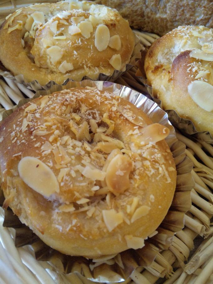 りんごとココナッツのパン