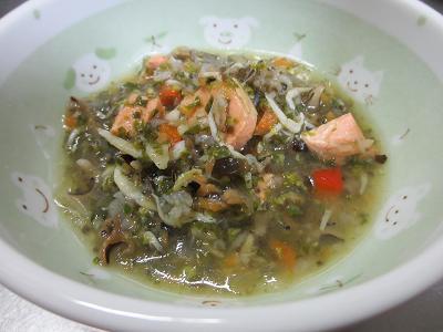 鮭とシラスの紅白スープ