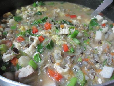 カラフル味噌スープ