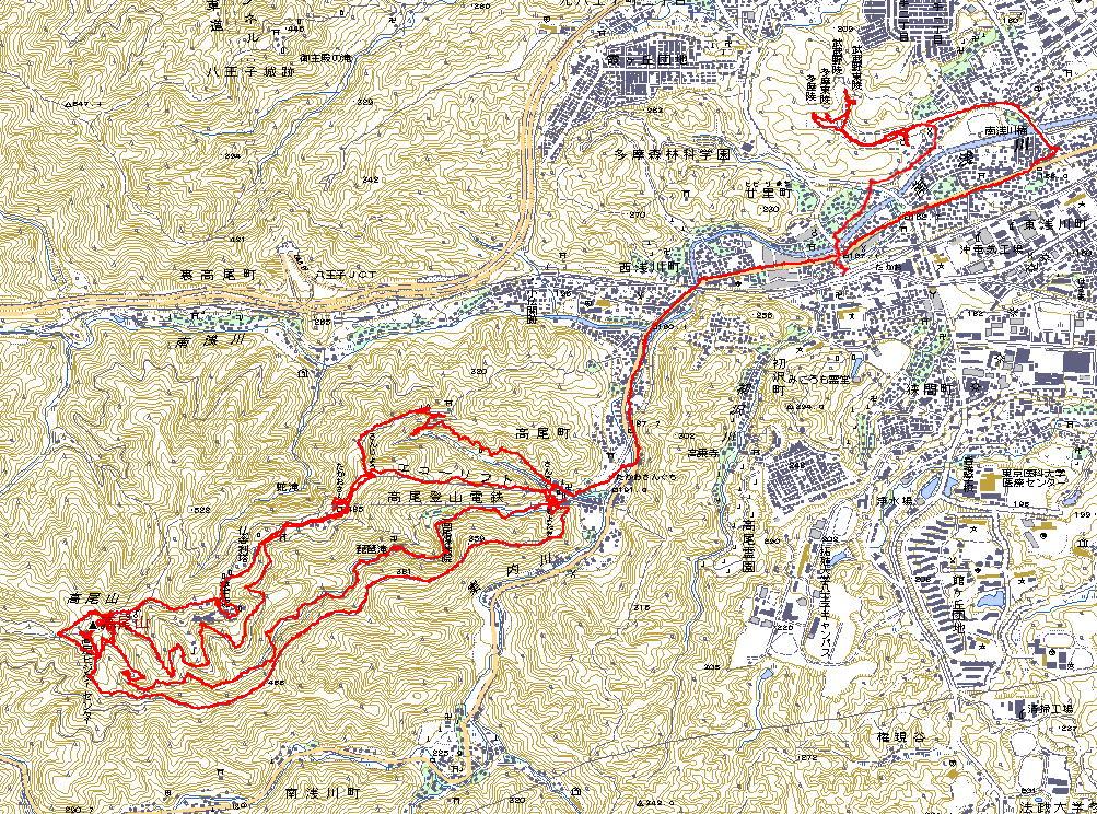 GPSログ高尾山