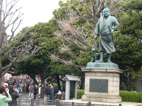 西郷殿銅像