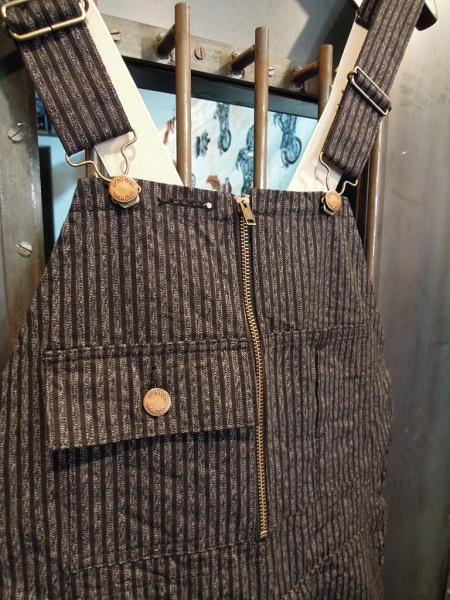O.C STYLE  FLONT ZIP OVERALL
