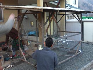 鳥小屋今日の作業完了