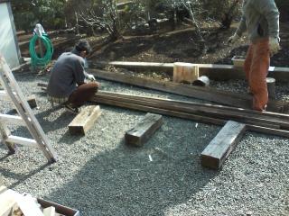 鳥小屋作り開始
