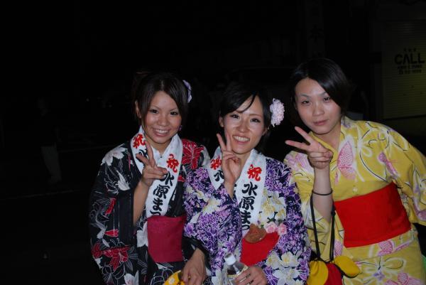 2010水原祭り・浴衣3娘