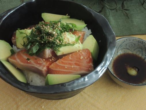 2月11日 鮭の漬け丼