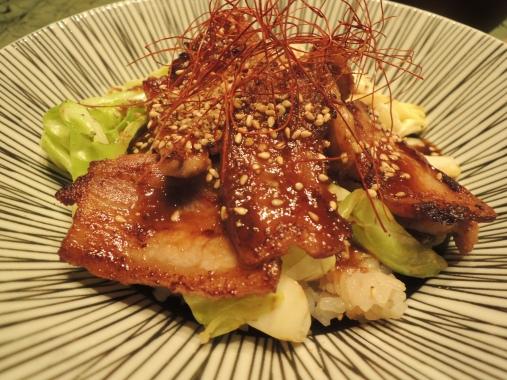2月13日 豚バラキャベツ丼