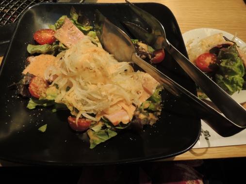 3月18日 ハムと玉葱のサラダ