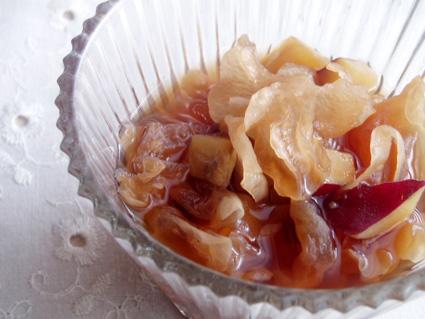白きくらげとさつま芋の黒糖煮03