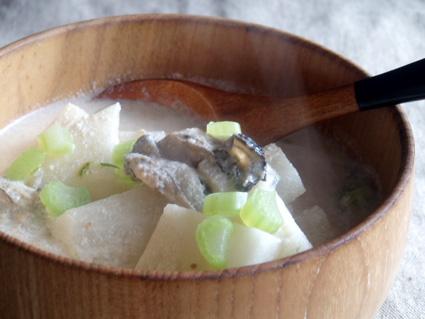 牡蠣の豆乳煮02
