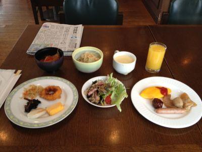 今回いただいた朝食