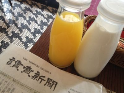 ジュースと牛乳