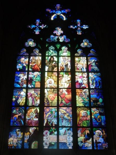 チェコ プラハ 聖ヴィート大聖堂 ミュシャのステンドグラス