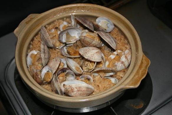 100417 土鍋でアサリご飯 15%