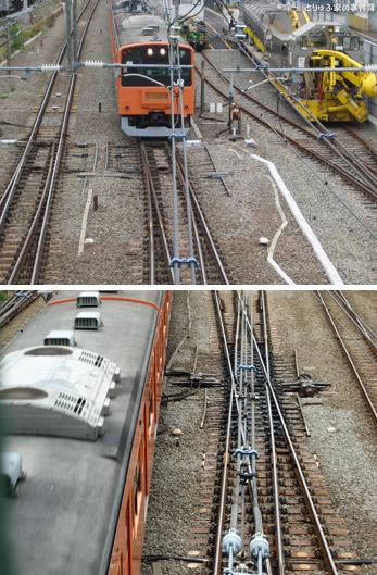 中央線のオレンジ電車