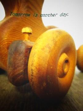 木製 あひるのオモチャ アップ