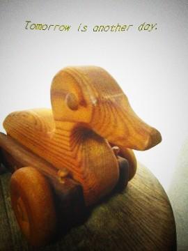 木製 あひるのオモチャ 1