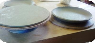 きょう作った出来あがり23センチぐらいのお皿