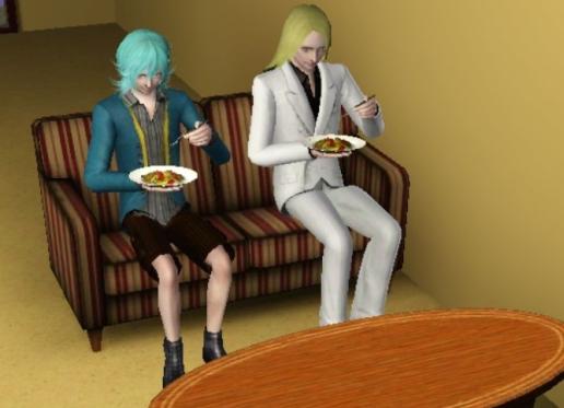 シンデレラ組並んでお食事