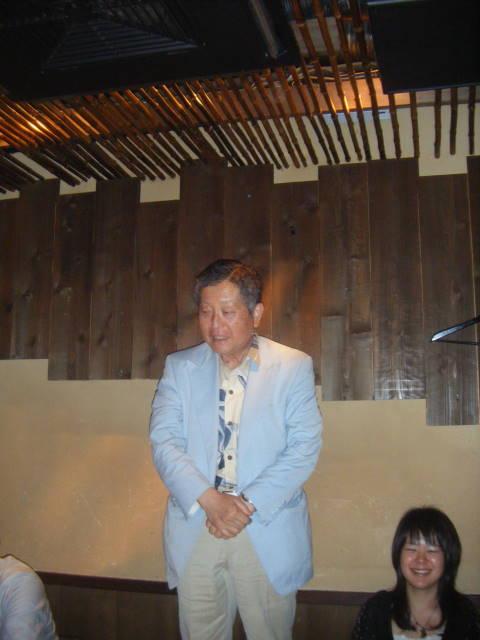 表彰式の深澤会長