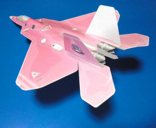 ピンクの猛禽リアビュー