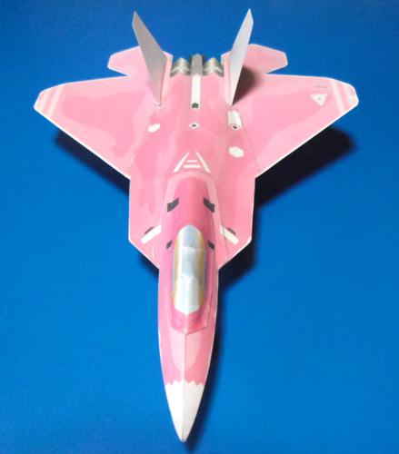 ピンクの猛禽上面