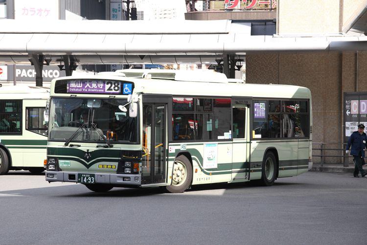 京都市交通局 京都200か1493 日野PJ-KV234N1