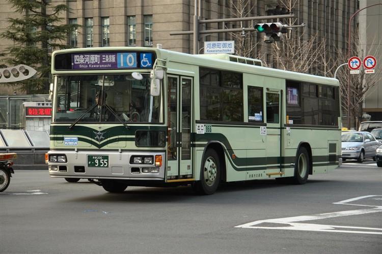 京都市交通局 京都市バス 京都200か・955 いすゞKL-LV280N1改