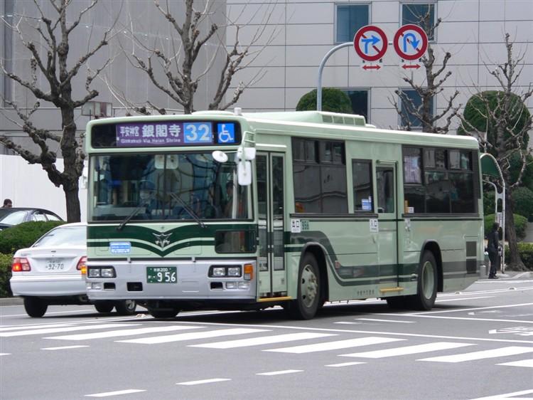 京都市交通局 京都市バス 京都200か・956 いすゞKL-LV280N1改