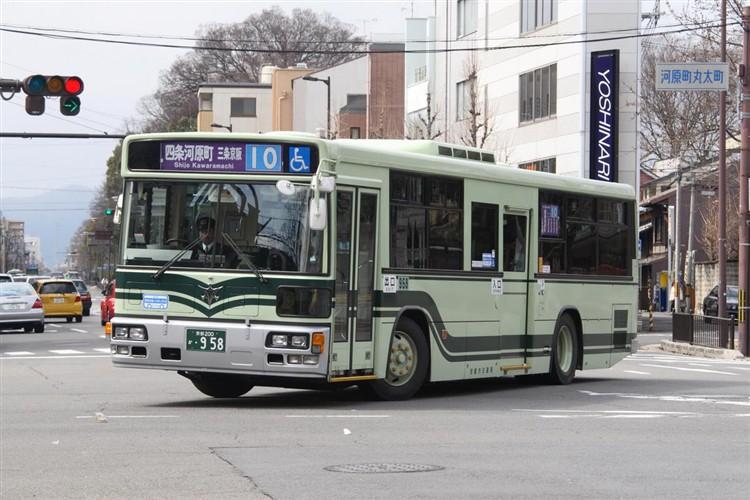 京都市交通局 京都市バス 京都200か・958 いすゞKL-LV280N1改