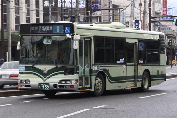 京都市交通局 京都市バス 京都200か・959 日野KL-HU2PMEE