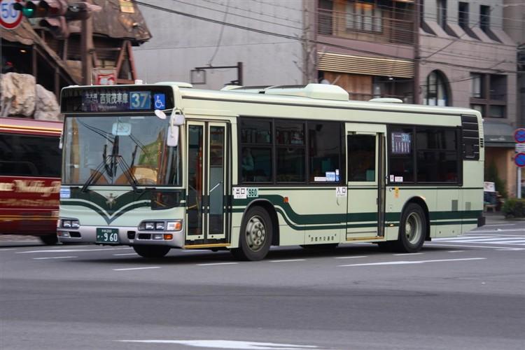 京都市交通局 京都市バス 京都200か・960 日野KL-HU2PMEE
