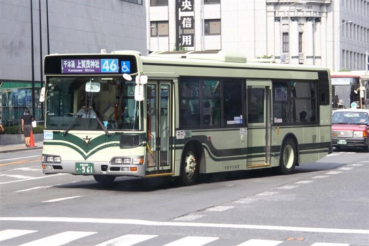 京都市交通局 京都市バス 京都200か・961 日野KL-HU2PMEE