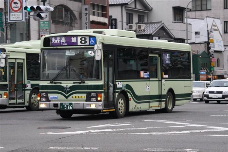 京都市交通局 京都市バス 京都200か・966 いすゞPA-LR234J1