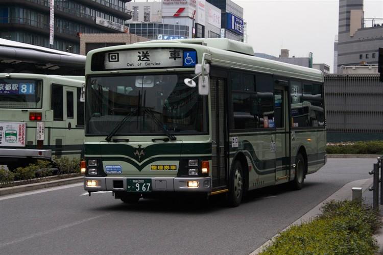 京都市交通局 京都市バス 京都200か・967 いすゞPA-LR234J1