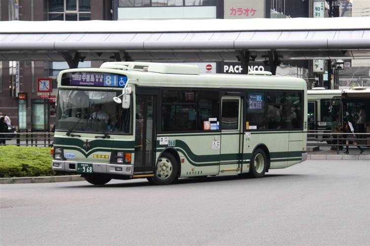京都市交通局 京都市バス 京都200か・968 いすゞPA-LR234J1