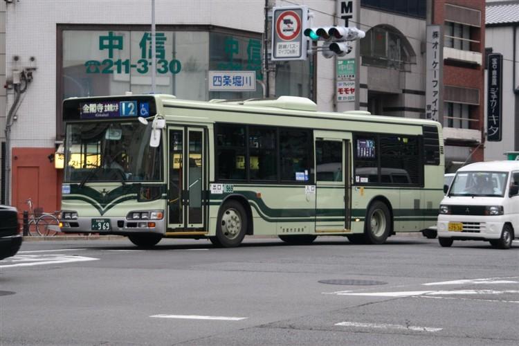 京都市交通局 京都市バス 京都200か・969 日野KL-HU2PMEE