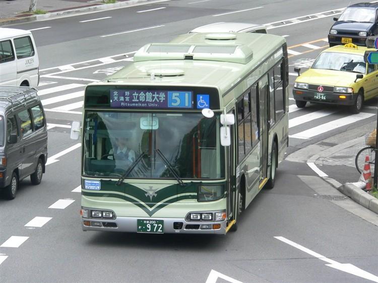 京都市交通局 京都市バス 京都200か・972 日野KL-HU2PMEE