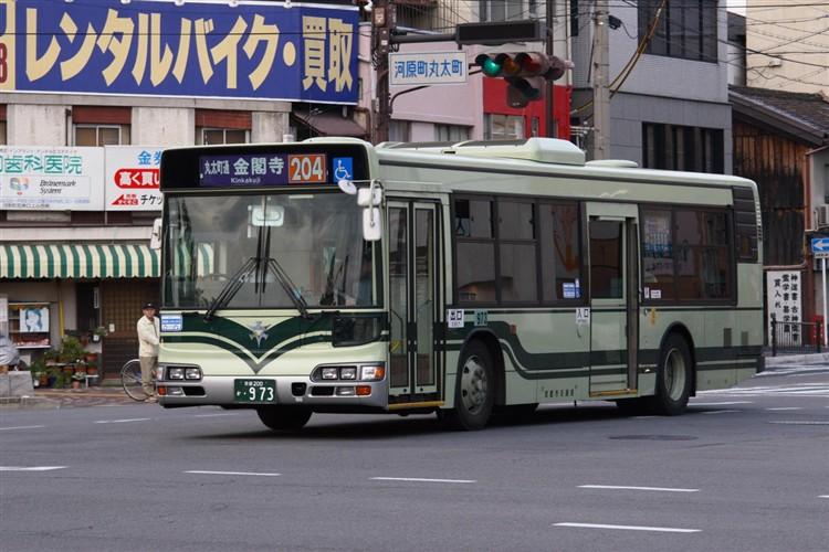 京都市交通局 京都市バス 京都200か・973 日野KL-HU2PMEE