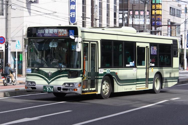 京都市交通局 京都市バス 京都200か・974 日野KL-HU2PMEE